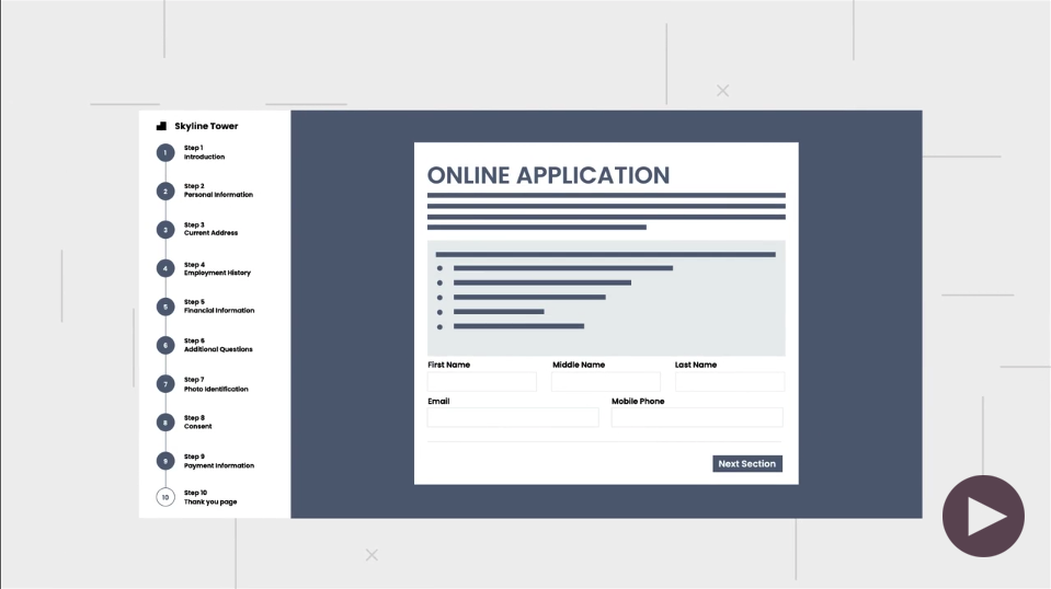 Online Application, Screening Reportings and Decisions